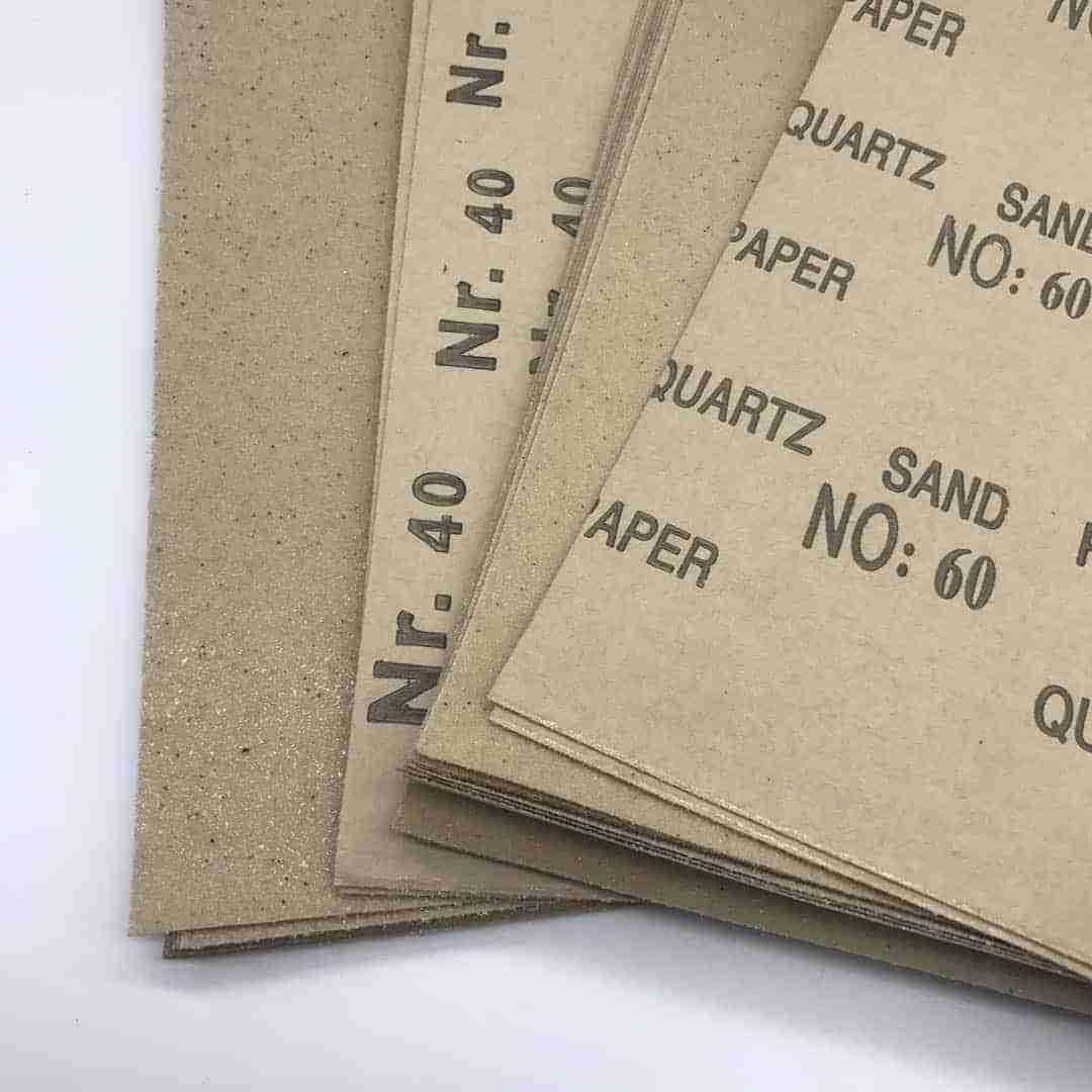 carta abrasiva, La carta abrasiva per la coltelleria