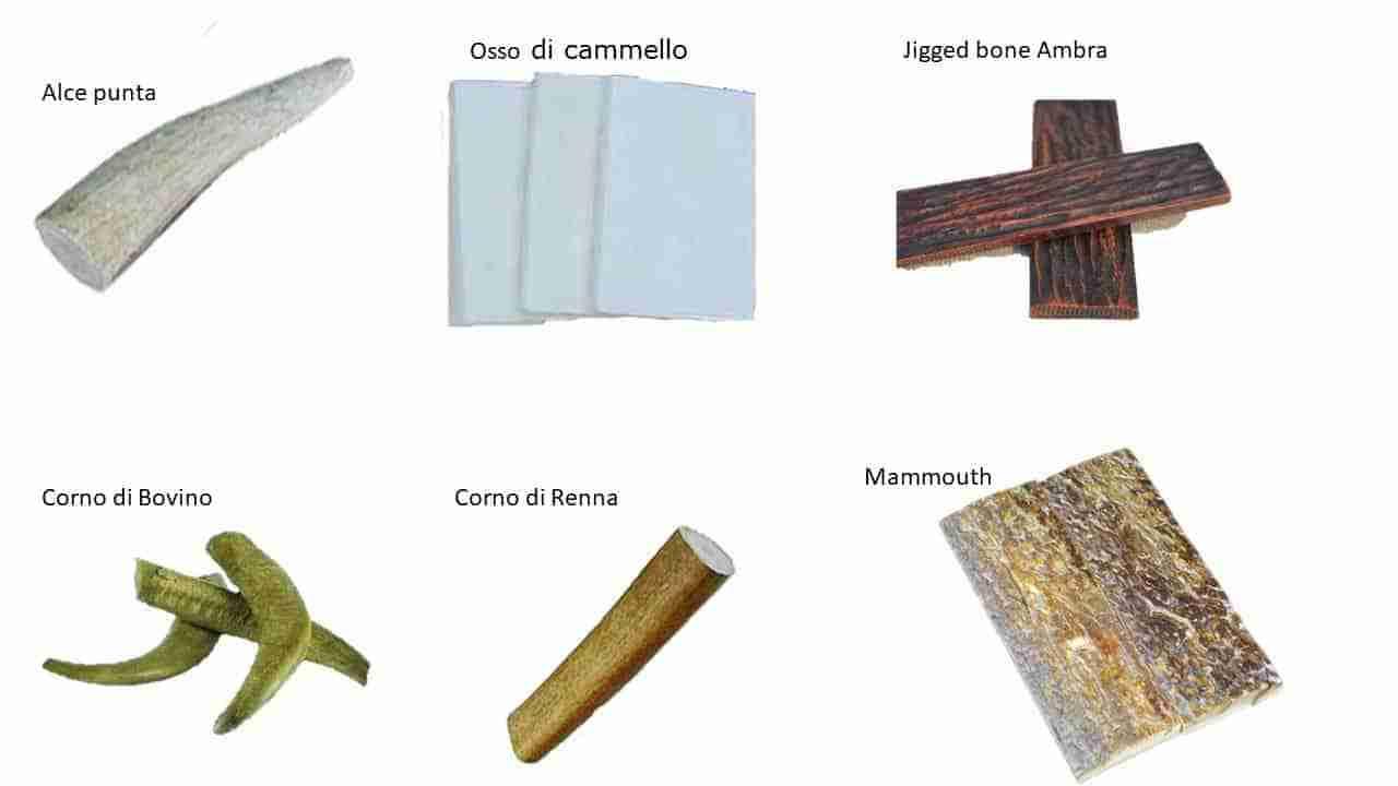 Corni e ossa nella coltelleria