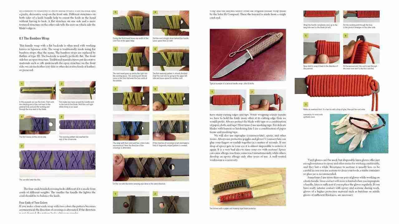Envolturas de mango de cuchillo paracord