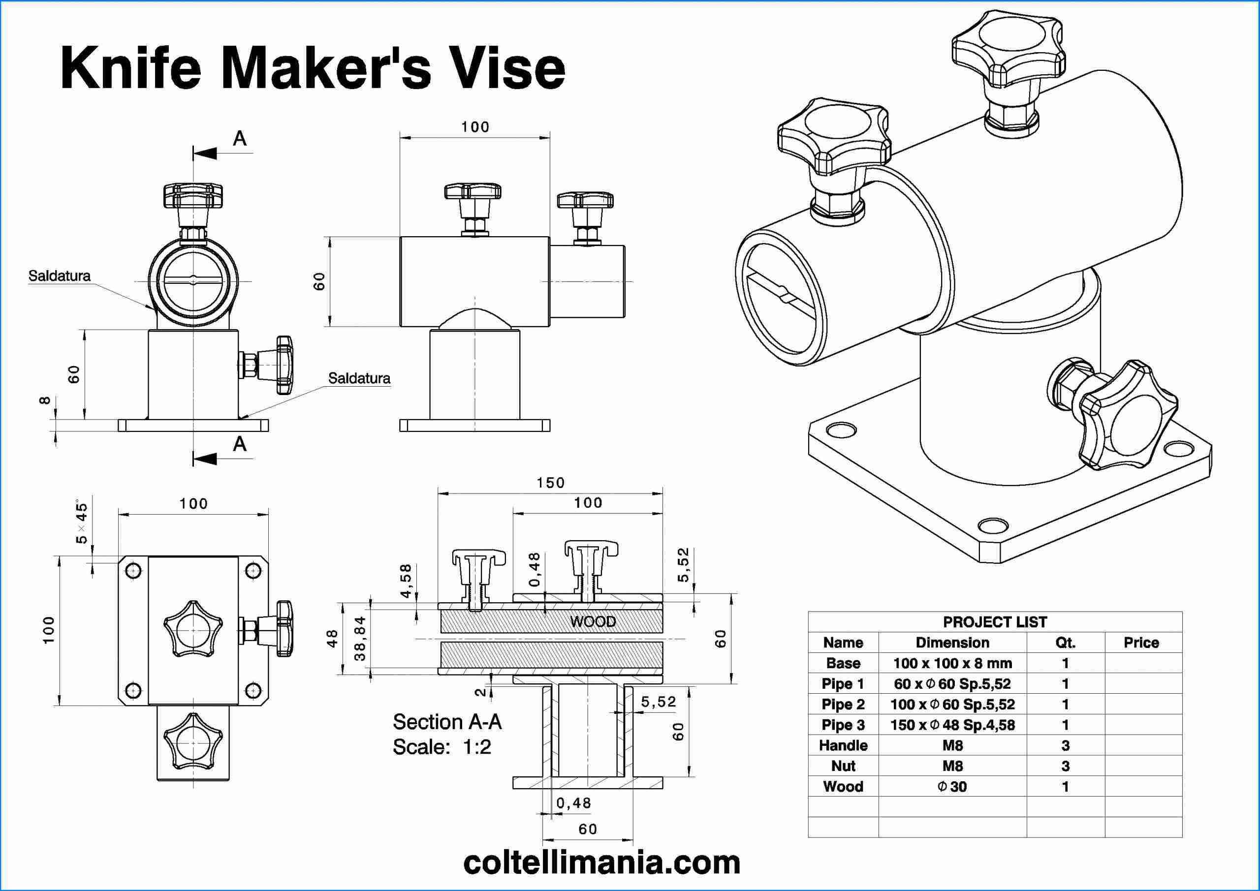 Knife Maker Vise Project